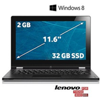 "Lenovo Yoga 11 Nvidia Tegra 3 1.3GHz 2GB 32GB SSD 11.6"" Dokunmatik Ultrabook Bilgisayar (Gümüş) 59-361319"